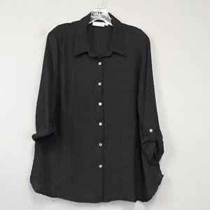 Habitat Black lagenlook Button Up Tunic top